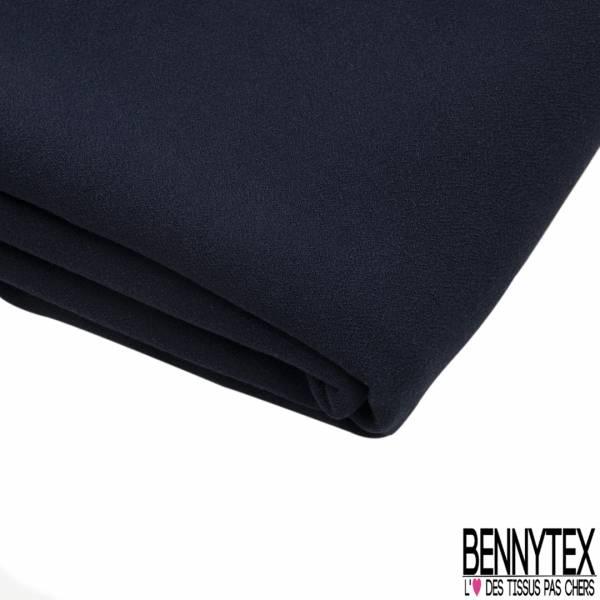 Coupon 3m Double Crêpe Polyester Elasthanne Uni Bleu Nuit