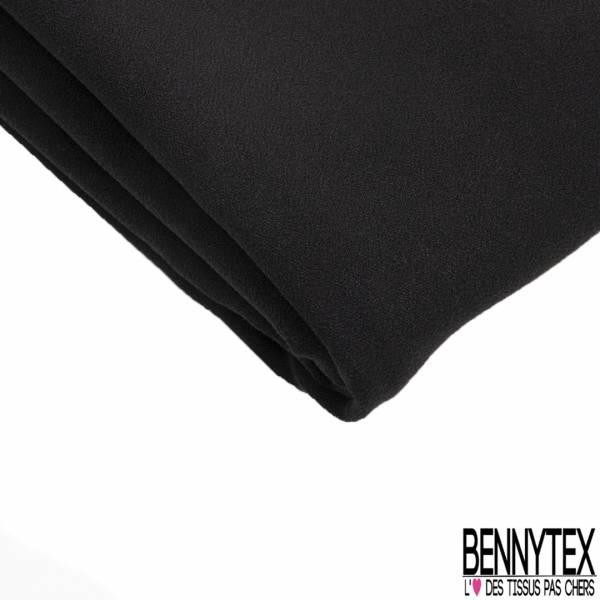 Coupon 3m Double Crêpe Polyester Elasthanne Uni Noir