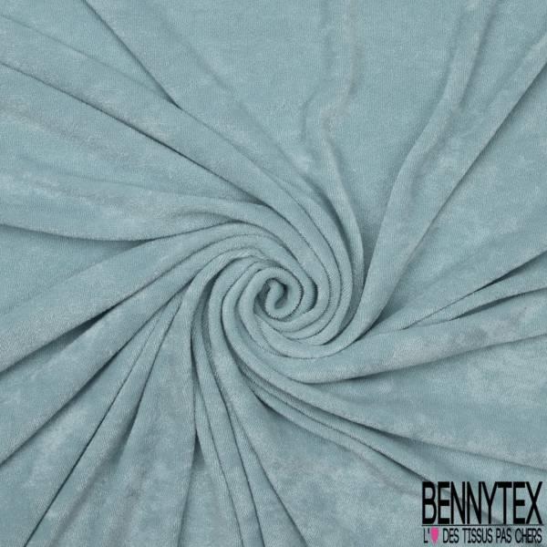 Micro éponge de bambou Mono Face Uni Bleu Givré