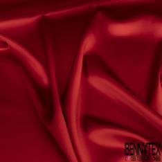 Satin de Soie Elasthanne Rouge
