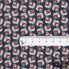 Coton Impression Boite Petit Trésor Marin Etoile de Mer Coquillage Hyppocampe
