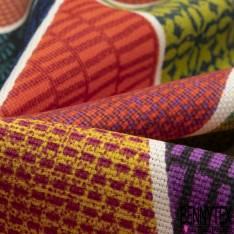 Toile de Coton Imprimé Gros Triangle Multicolore Fantaisie