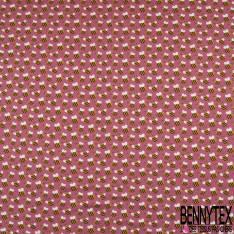 Jersey Coton Elasthanne Imprimé Petite Abeille fond Rose Blush
