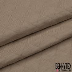 Jersey Coton Matelassé Double Face Uni Sable