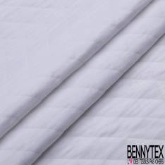 Jersey Coton Matelassé Double Face Uni Blanc Optique