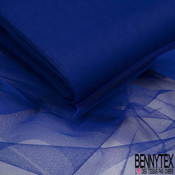 Tulle Rigide Uni Bleu Electrique