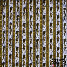Wax Africain N° 845: Motif Soleil Fantaisie Turquoise fond Cercle Marbré Vert Orange