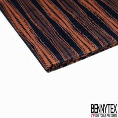 Wax Africain N° 875: Motif Rayure Fantaisie Triangle Rayé Jaune Rouge Blanc Noir