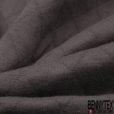 Jersey Coton Matelassé Double Face Uni Gris Anthracite
