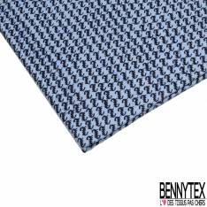 Wax Africain N° 887: Motif Minuscule Fantaisie Bleu Nuit fond Bleu Givré Marbré Marine