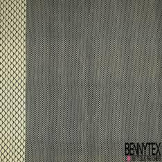 Wax Africain N°903: Simple base Motif Ecaille de Poisson Jaune Pastel fond Bleu Nuit