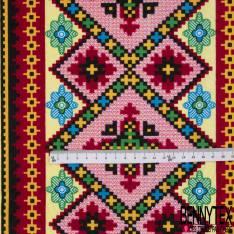 Wax Africain N°910: Motif Pixel Floral Multicolore