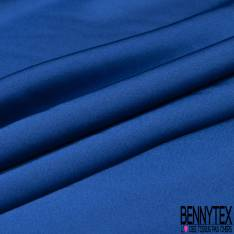 Satin Polyester Toucher Soie Bleu Roi