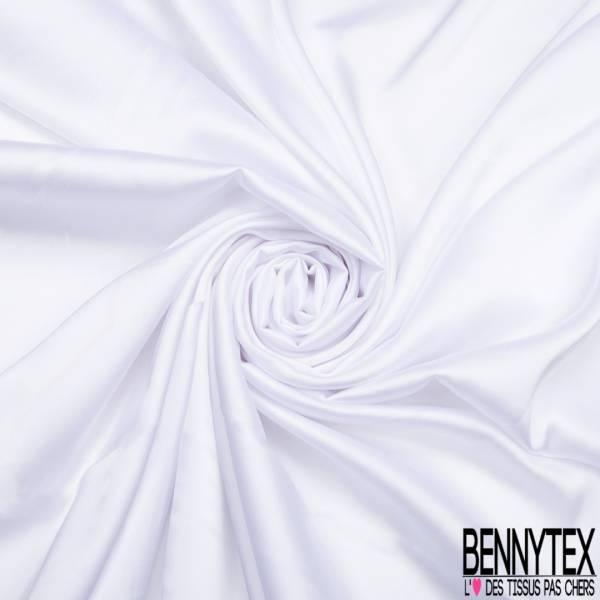 Satin Polyester Toucher Soie Blanc Optique