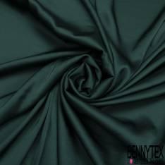 Satin Polyester Toucher Soie Vert Anglais