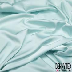 Satin Polyester Toucher Soie Vert d'eau