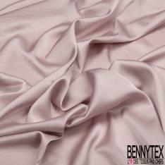 Satin Polyester Toucher Soie Vieux Rose