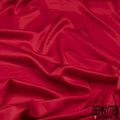 Satin Polyester Toucher Soie Rouge