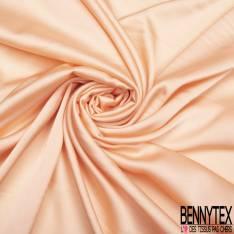 Satin Polyester Toucher Soie Corail Pastel