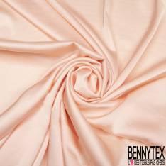 Satin Polyester Toucher Soie Rose Saumoné Pastel