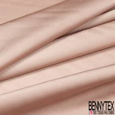 Satin Polyester Toucher Soie Rose Nude