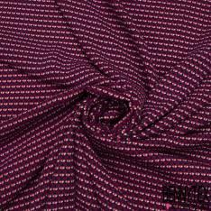 Crêpe Viscose Imprimé Triangle Magnolia Noir Crème Rose Pastel
