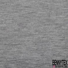 Molleton Bouclette à effet Texturé Souris Ecru Noir Lurex Argent