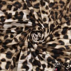 Satin Polyester Imprimé Chaine Maillon Jaune Blanc fond Vert Anglais