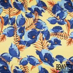 Satin de Coton de Soie imprimé Floral esprit papier Peint fond Vert Givré