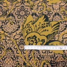 Brocart Coton Tissé Courbe Graphique Effet Dégradé Prune et Blanc Lurex Prune Polyester
