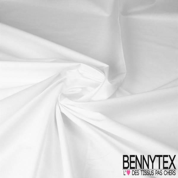 Popeline Coton Blanche (Lycra) - QUALITE PREMIUM