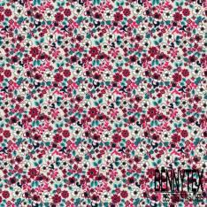 Coton imprimé Petite Fleur Sauvage fond Gris Perle