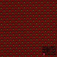 Toile Lorraine 100% Coton Modèle DOUCET Ton Rouge
