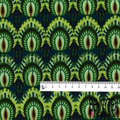Coton Crétonne imprimé Losange Tribal Multicolore Graphique