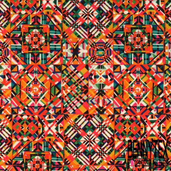 Coton imprimé Digital kaleidoscope Multicolore