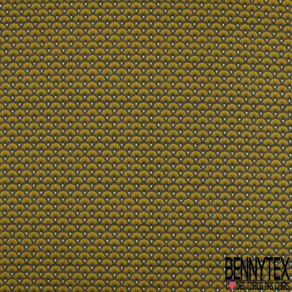 Toile Lorraine 100% Coton Modèle DOUCET Ton Moutarde
