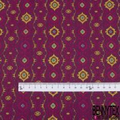 Coton imprimé Motif Abstrait fond Orchidée