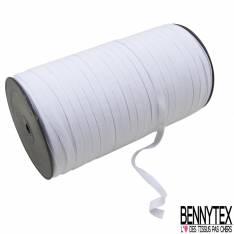 Bobine 250m élastique 7mm blanc Made in France
