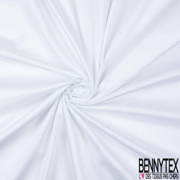 Satin de Coton Elasthanne Uni Blanc