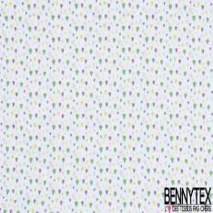 Coton Matelassé imprimé Recto Chat Japonisant ton Pastel Verso Empreinte de Chat fond Blanc