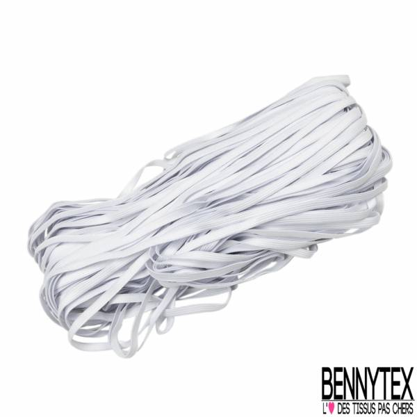 Bobine 300m élastique 7mm blanc