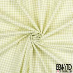 Coton Elasthanne imprimé Motif Pois Turquoise fond Blanc