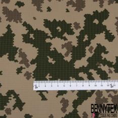 Toile Imprimé Camouflage Militaire