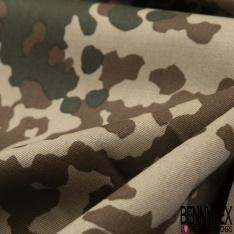 Toile Imprimé Camouflage Militaire Pixel ton Naturel