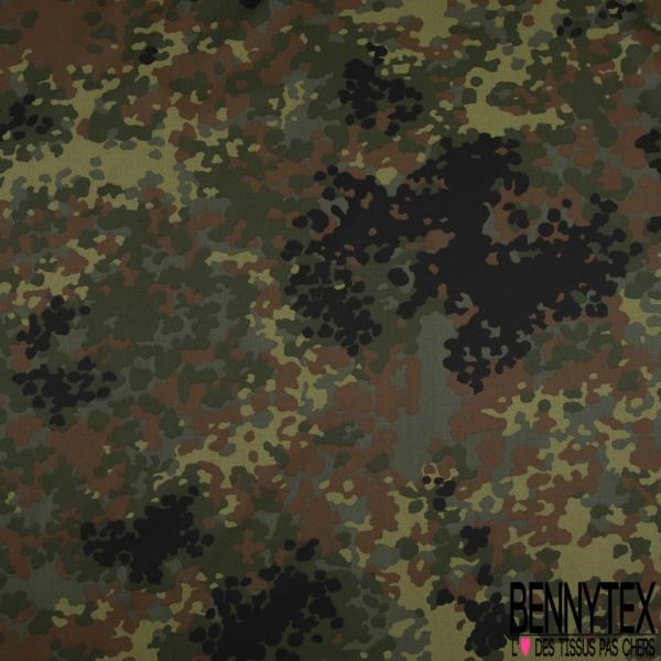 Toile Imprimé Camouflage Militaire ton Olive