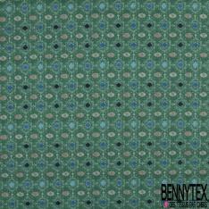 Coton imprimé Digital Thème Couverture au Crochet de nos Grands-mères multicolore