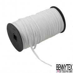 Bobine 200m élastique 5mm blanc Souple Made in France