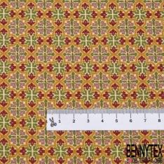 Coton imprimé Digital Thème Abstrait Multicolore