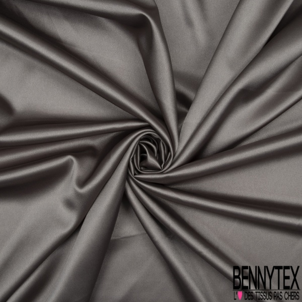 Satin Polyester Elasthanne Taupe