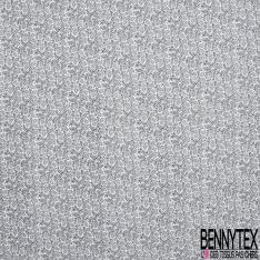 Coton imprimé Mini Motif Végétal fond Blanc
